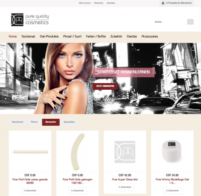 Pure Quality Cosmetics Webdesign