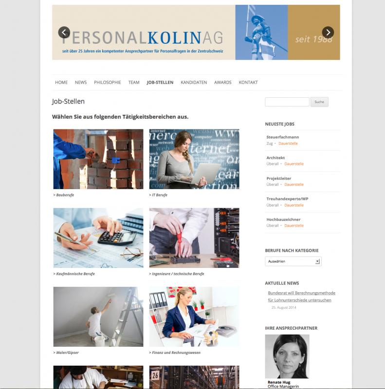 Personal Kolin Webseite