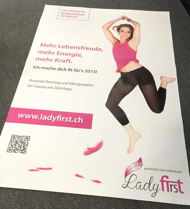 Plakat ladyfirst