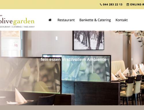 Restaurant Olive Garden ReDesign Webseite