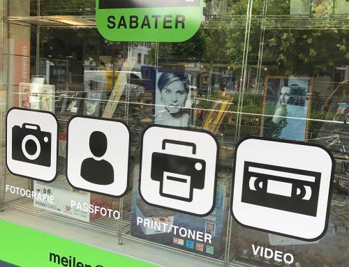 Beschriftung Foto-Sabater