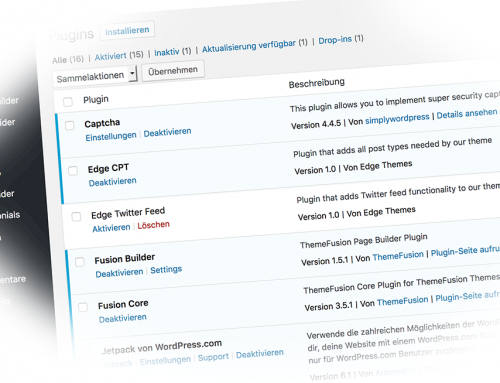 WordPress Plugins Risiken und Gefahren