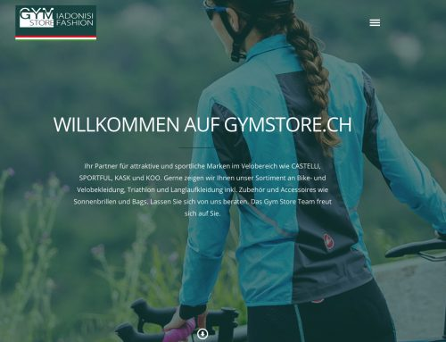 Neue Website GymStore