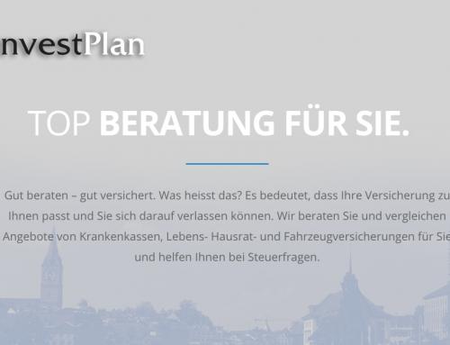 Neue Website InvestPlan
