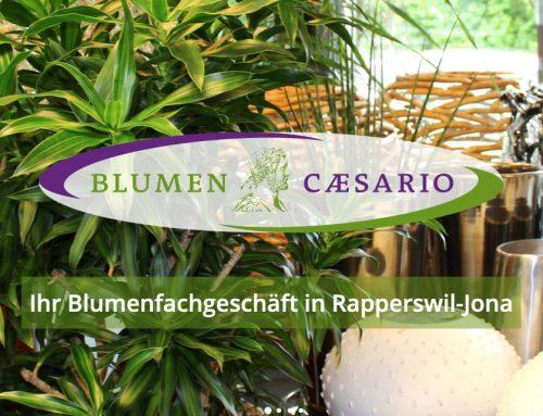 Neue responsive Website Blumen Caesario