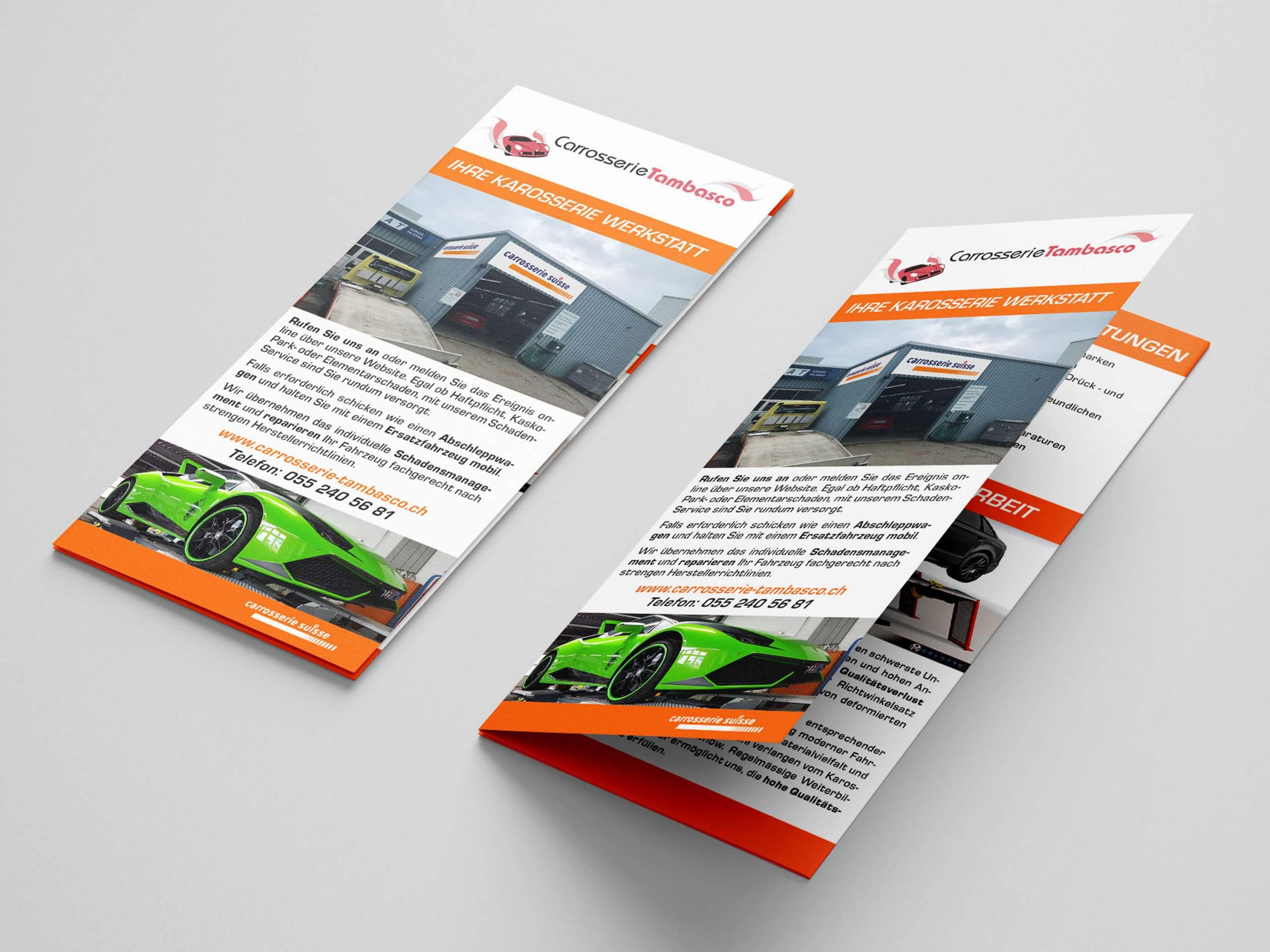New Media & Design Carosserie Tambasco Flyer