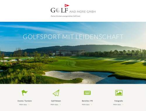 Neue Golf Website