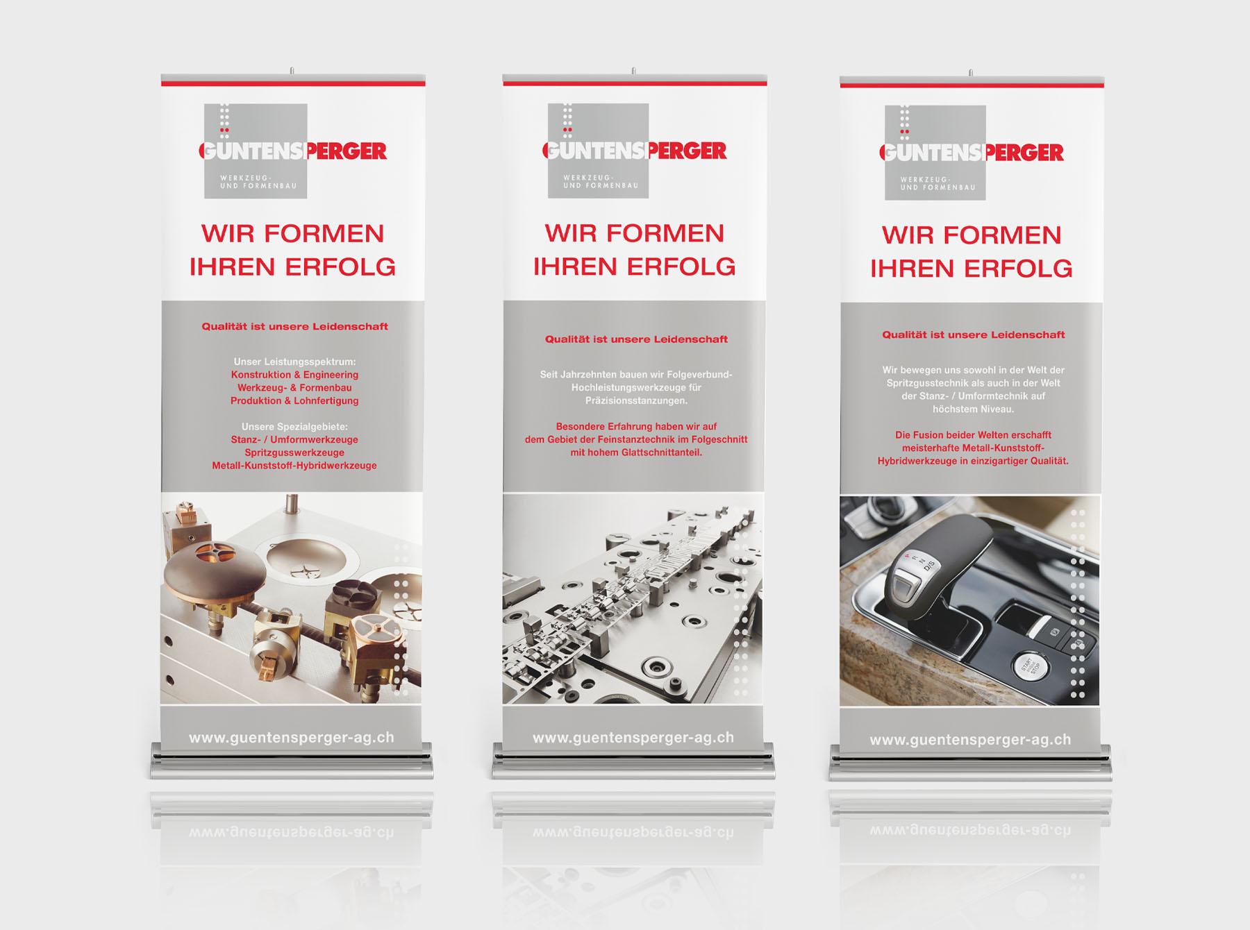 New Media & Design Messe Banner Güntensperger
